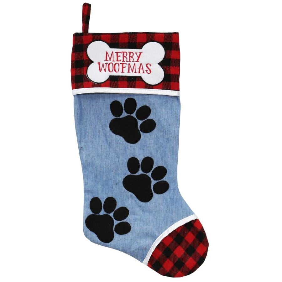 holiday living 19 in blue pet christmas stocking