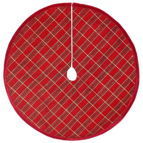 Lowes Christmas Tree Skirts: Holiday Living 18-in Red Velvet Traditional Christmas Tree