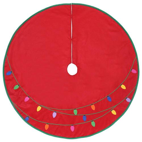 Lowes Christmas Tree Skirts: Holiday Living 40-in Red Felt Christmas Tree Skirt At
