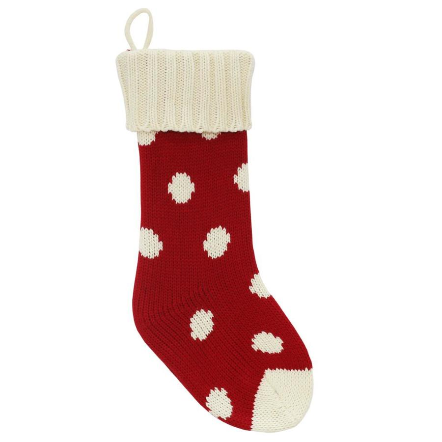 Shop Holiday Living 19-in Red Traditional Christmas Stocking at ...