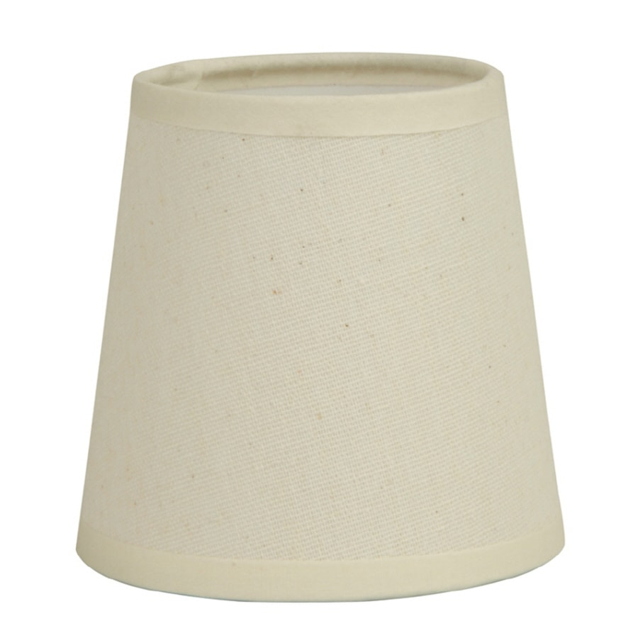 Shop Allen Roth 4 In X 4 In Off White Fabric Drum Lamp