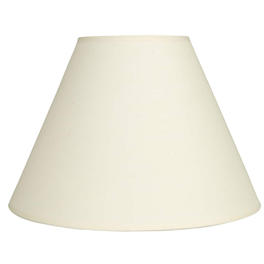 allen + roth 10-in x 14-in Off White Fabric Bell Lamp Shade