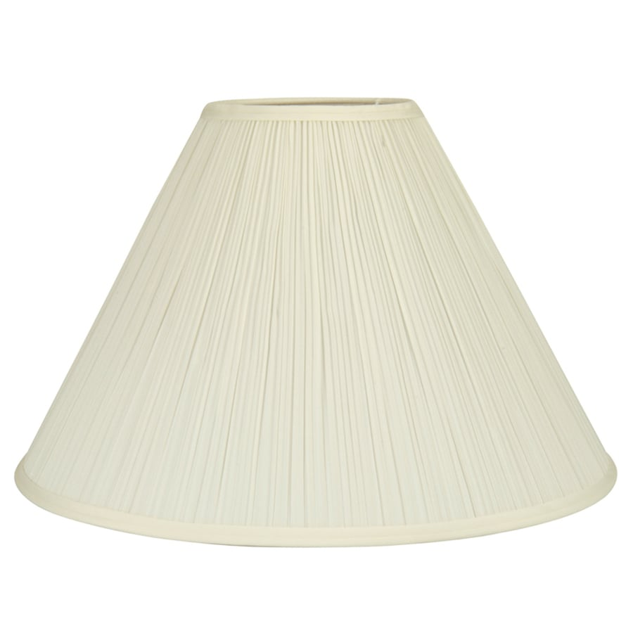 allen + roth 12.5-in x 18-in Cream Fabric Cone Lamp Shade