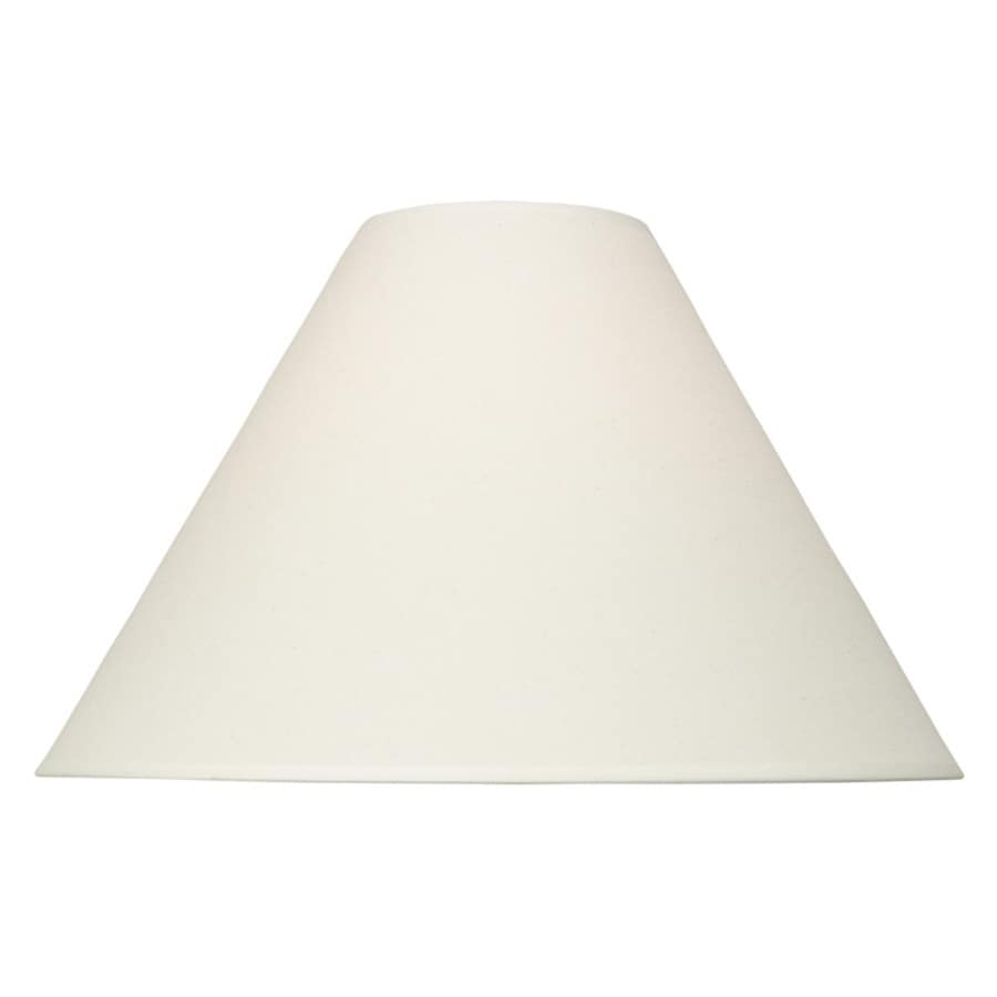 Shop lamp shades at lowes portfolio 13 in x 19 in natural fabric bell lamp shade aloadofball Choice Image