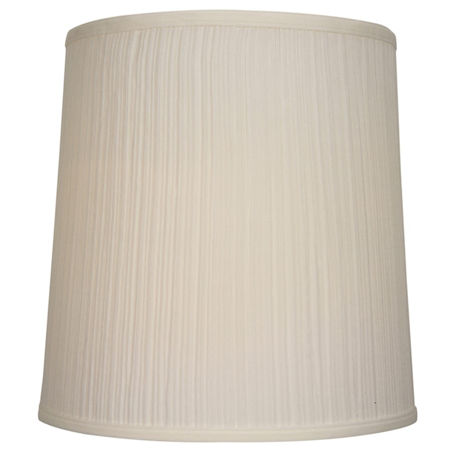 Shop Allen Roth 14 In X 14 In Beige Fabric Drum Lamp