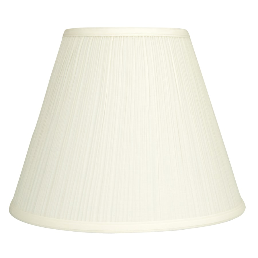 allen + roth 11-in x 14-in Natural Fabric Cone Lamp Shade
