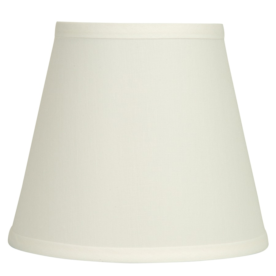 8 Lamp Shade: allen + roth 7-in x 8-in Natural Fabric Bell Lamp Shade,Lighting