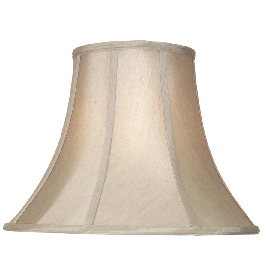 Shop Allen + Roth 12.5-in X 17-in Tan Fabric Bell Lamp