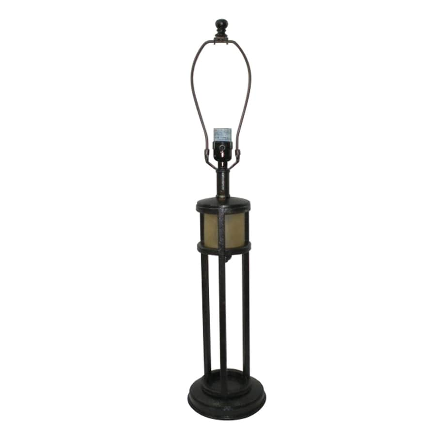 Portfolio 3-Way Satin Bronze Table Lamp Base with Night Light