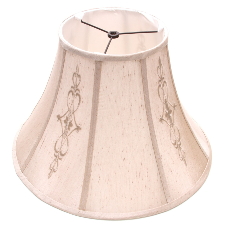 Shop allen roth 177 in x 179 in beige fabric bell lamp shade allen roth 177 in x 179 in beige fabric bell lamp shade mozeypictures Choice Image