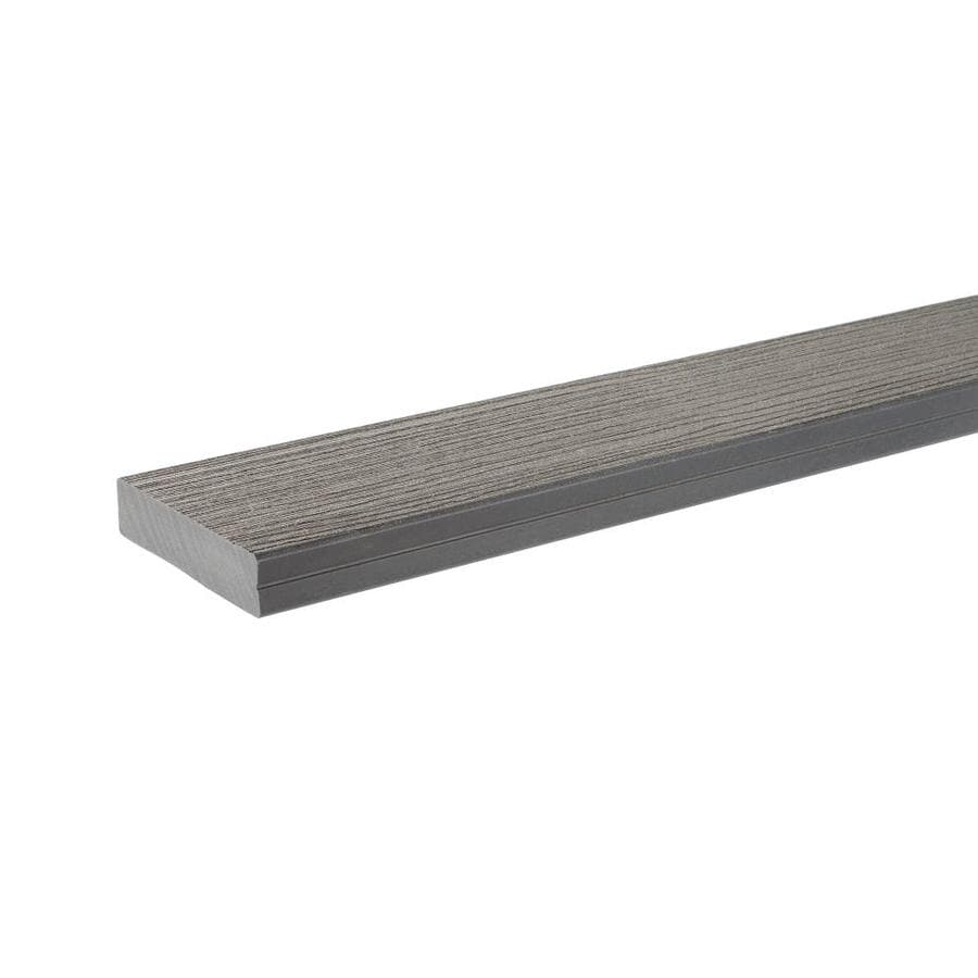 TimberTech (Actual: 1.25-in x 5.5-in x 16-ft) Gray Composite Deck Board