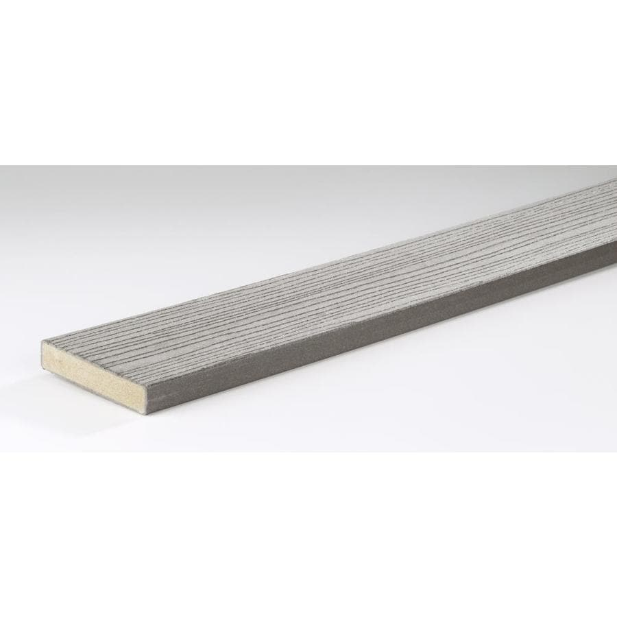 TimberTech (Actual: 1-in x 5.4-in x 16-ft) Gray Composite Deck Board