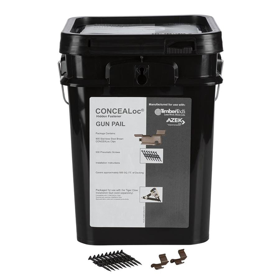TimberTech CONCEALoc 900-Count Brown Clip Deck Hidden Fasteners (500-sq ft Coverage)