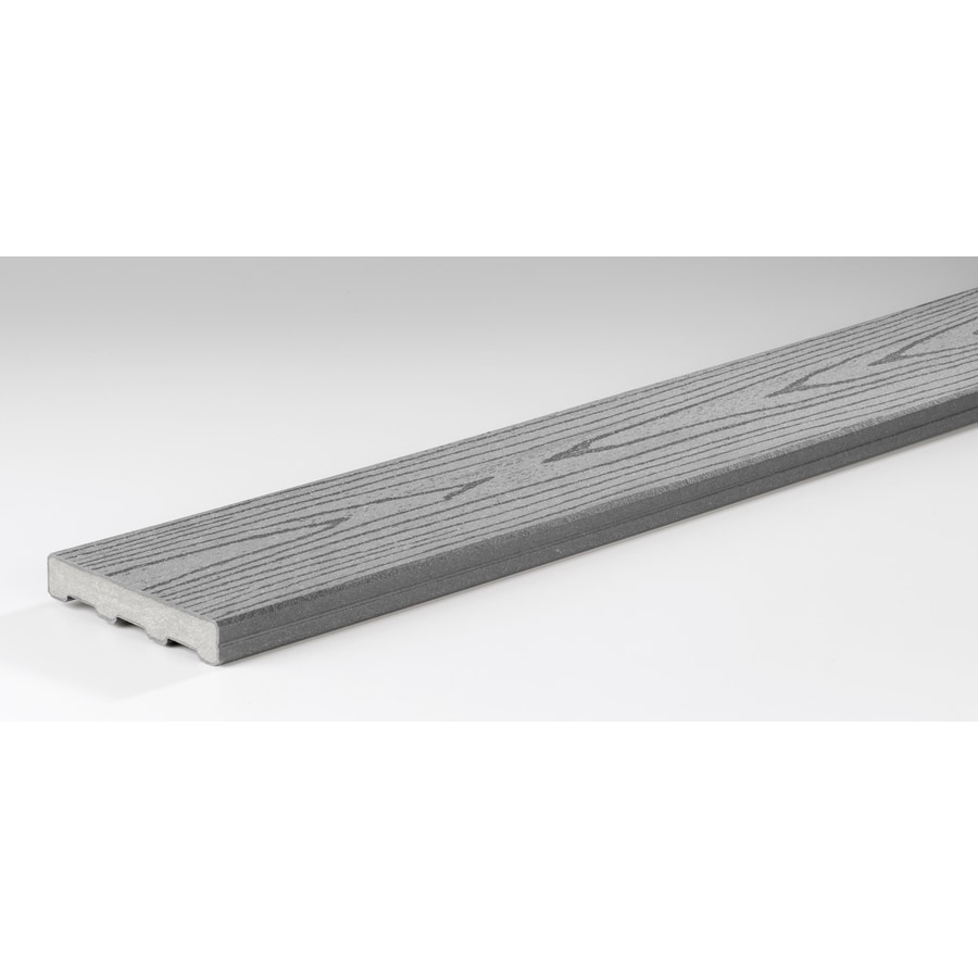 Shop timbertech 12 ft gray composite deck board at for Composite deck boards reviews