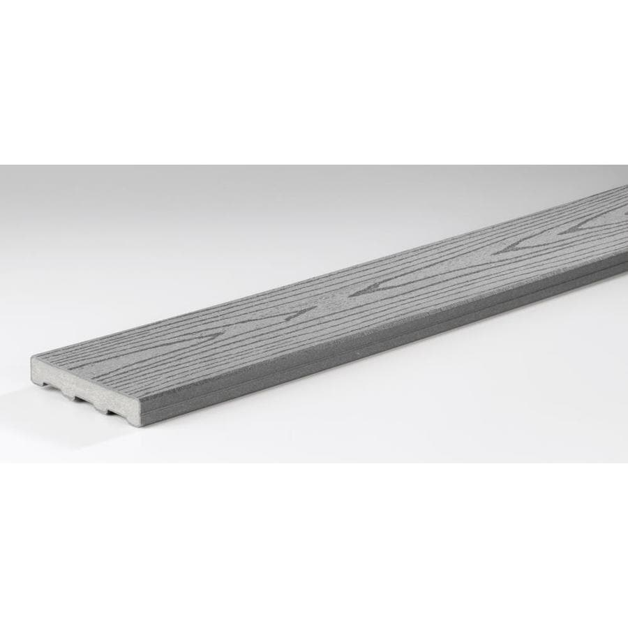 TimberTech (Actual: 0.94-in x 5.4-in x 16-ft) Gray Composite Deck Board