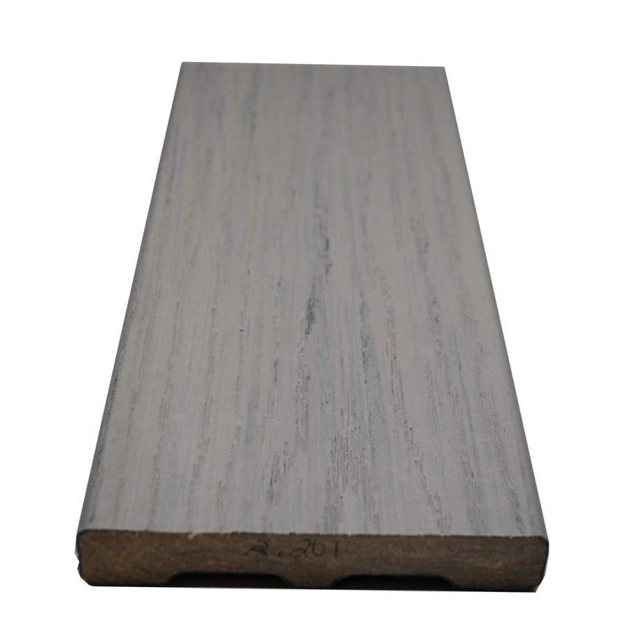 Style Selections Fieldstone Gray Groove Composite Deck Board (Actual: 0.925-in x 5.25-in x 20-ft)