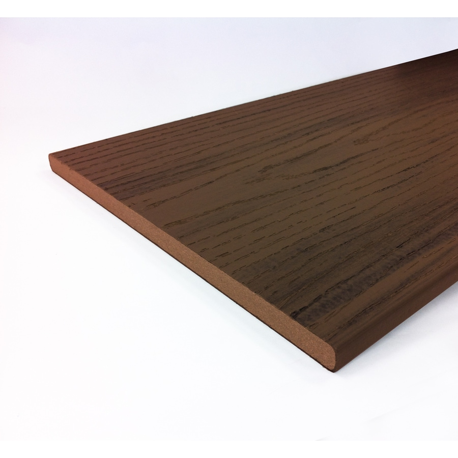 Style Selections 1/2 x 12 x 8 Beechwood Brown Composite Deck Trim Board