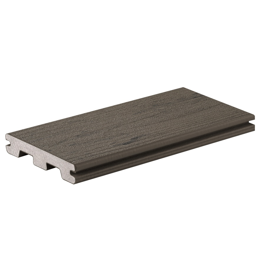 TimberTech (Actual: 0.94-in x 5.36-in x 12-ft) Silver Maple Grooved Composite Deck Board