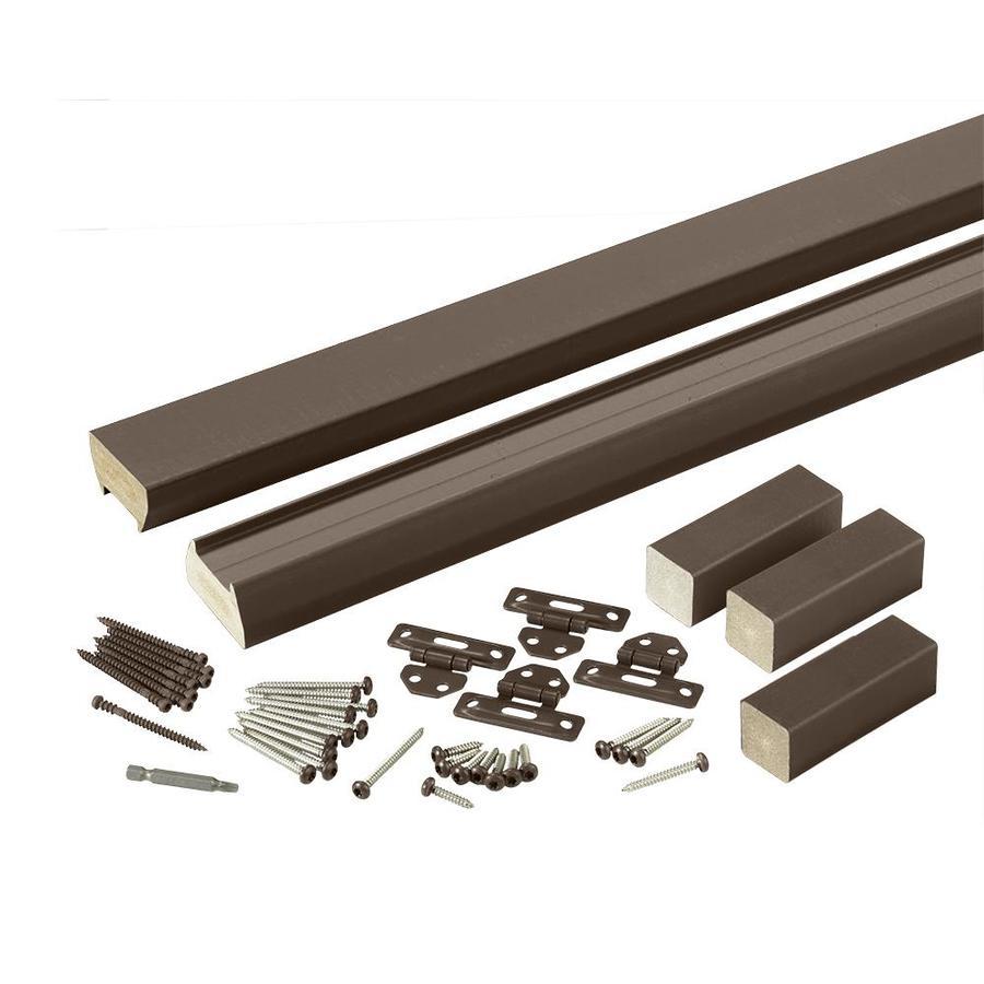 TimberTech (Assembled: 8-ft x 3-ft) Evolutions Rail Traditional Walnut Composite Deck Railing Kit