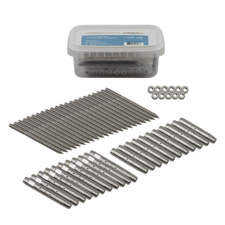 TimberTech CableRail by Feeney 55-Pack Stainless Steel Cable Connectors