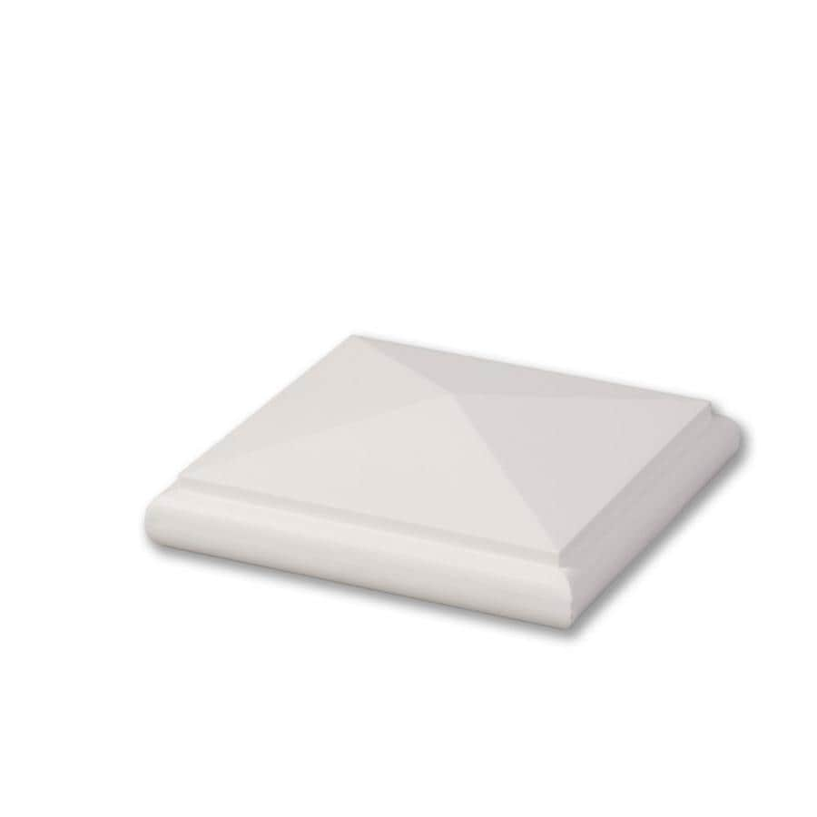 AZEK (Fits Common Post Measurement: 5-1/2-in x 5-1/2-in; Actual: 2-in x 6-in x 6-in) White Composite Deck Post Cap