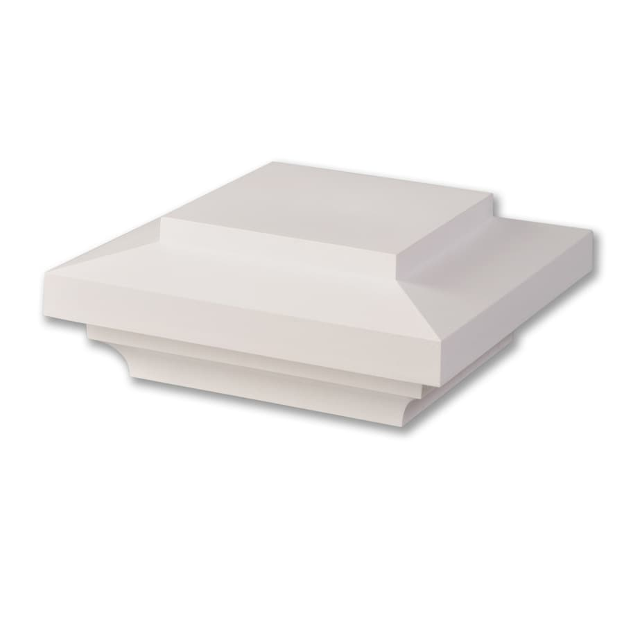 AZEK (Fits Common Post Measurement: 5-1/2-in x 5-1/2-in; Actual: 4-in x 9-in x 9-in) White Composite Deck Post Cap