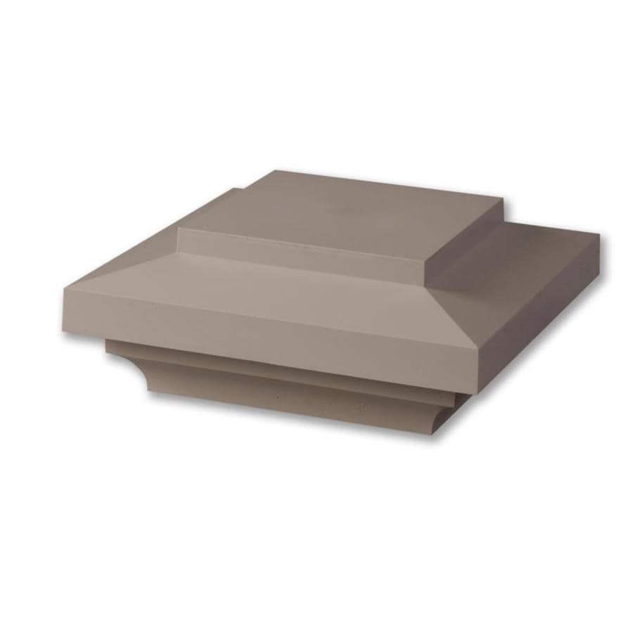 AZEK (Fits Common Post Measurement: 5-1/2-in x 5-1/2-in; Actual: 4-in x 9-in x 9-in) Slate Gray Composite Deck Post Cap