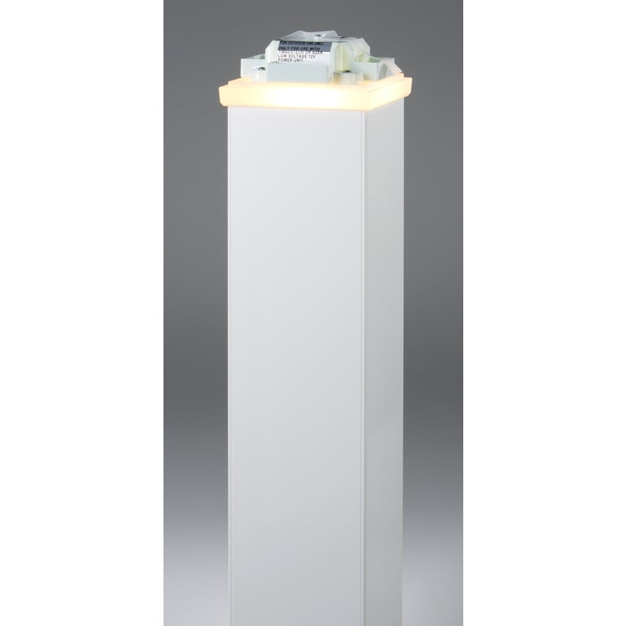 AZEK (Fits Common Post Measurement: 5-1/2-in x 5-1/2-in; Actual: 3.75-in x 6-in x 6-in) Clear LED Deck Post Cap