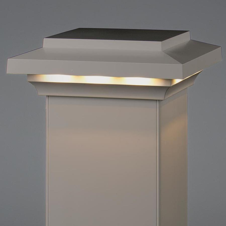 AZEK (Fits Common Post Measurement: 5-1/2-in x 5-1/2-in; Actual: 3.5-in x 8-in x 8-in) Slate Gray LED Composite Deck Post Cap