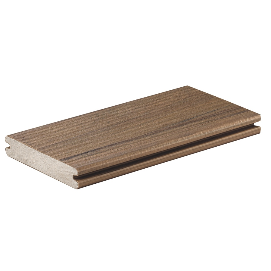 TimberTech (Actual: 0.94-in x 5.36-in x 12-ft) Pecan Grooved Composite Deck Board