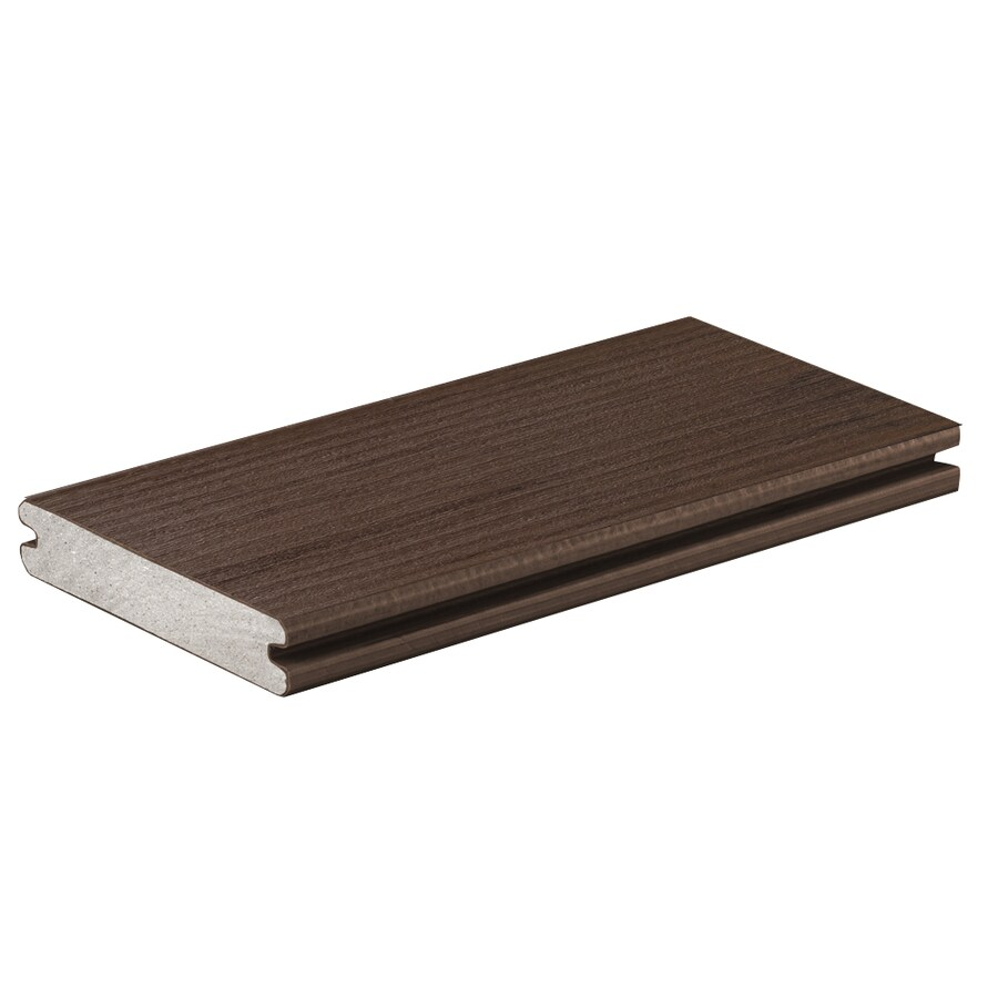 TimberTech (Actual: 0.94-in x 5.36-in x 16-ft) Mocha Grooved Composite Deck Board