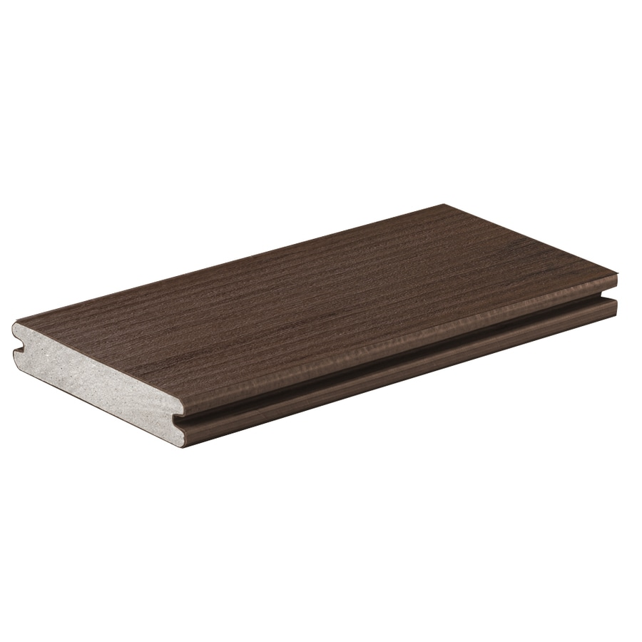 TimberTech Mocha Groove Composite Deck Board (Actual: 0.94-in x 5.36-in x 16-ft)