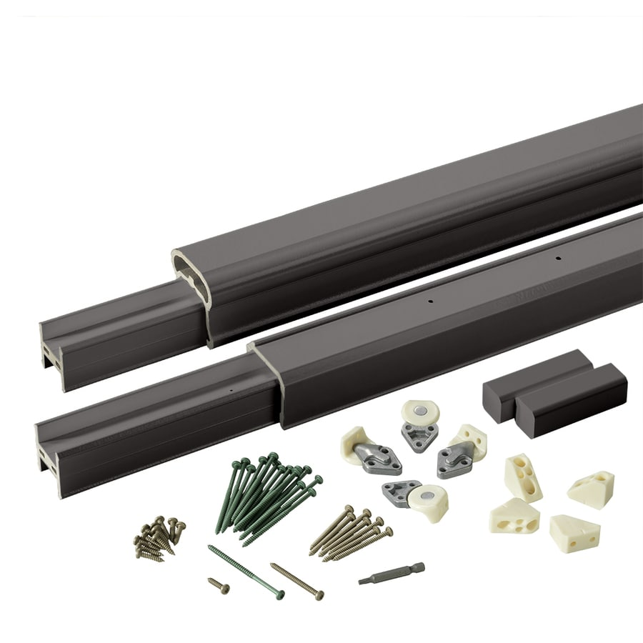 TimberTech (Assembled: 8-ft x 3-ft) RadianceRail Black Composite Deck Railing Kit