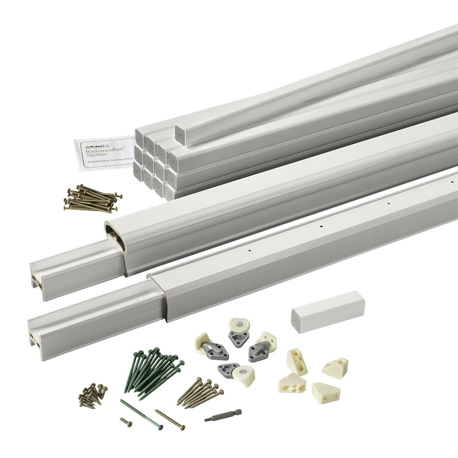 TimberTech (Assembled: 6-ft x 3-ft) RadianceRail White Composite Deck Railing Kit