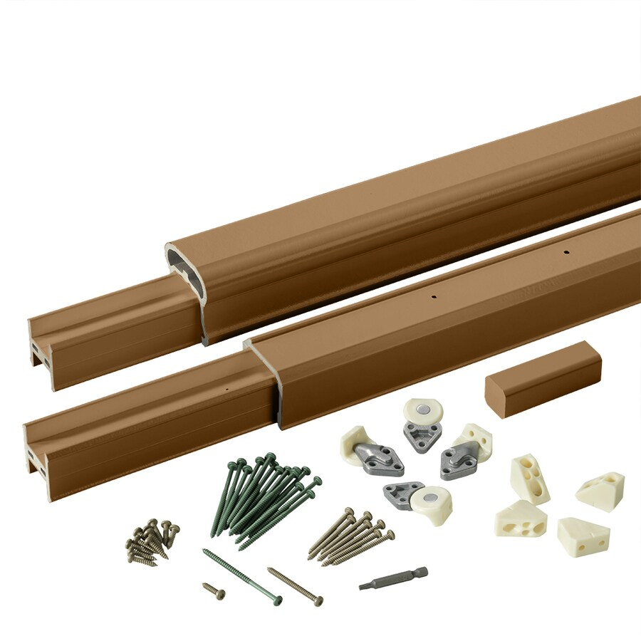 TimberTech (Assembled: 6-ft x 3-ft) RadianceRail Mountain Cedar Composite Deck Railing Kit