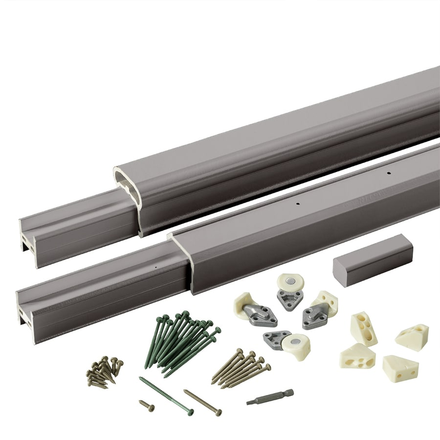 TimberTech (Assembled: 8-ft x 3-ft) RadianceRail Slate Gray Composite Deck Railing Kit