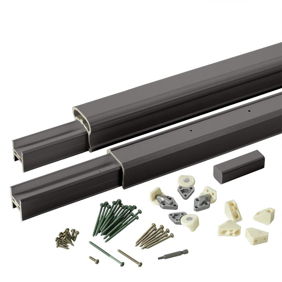 TimberTech (Assembled: 10-ft x 3-ft) RadianceRail Black Composite Deck Railing Kit