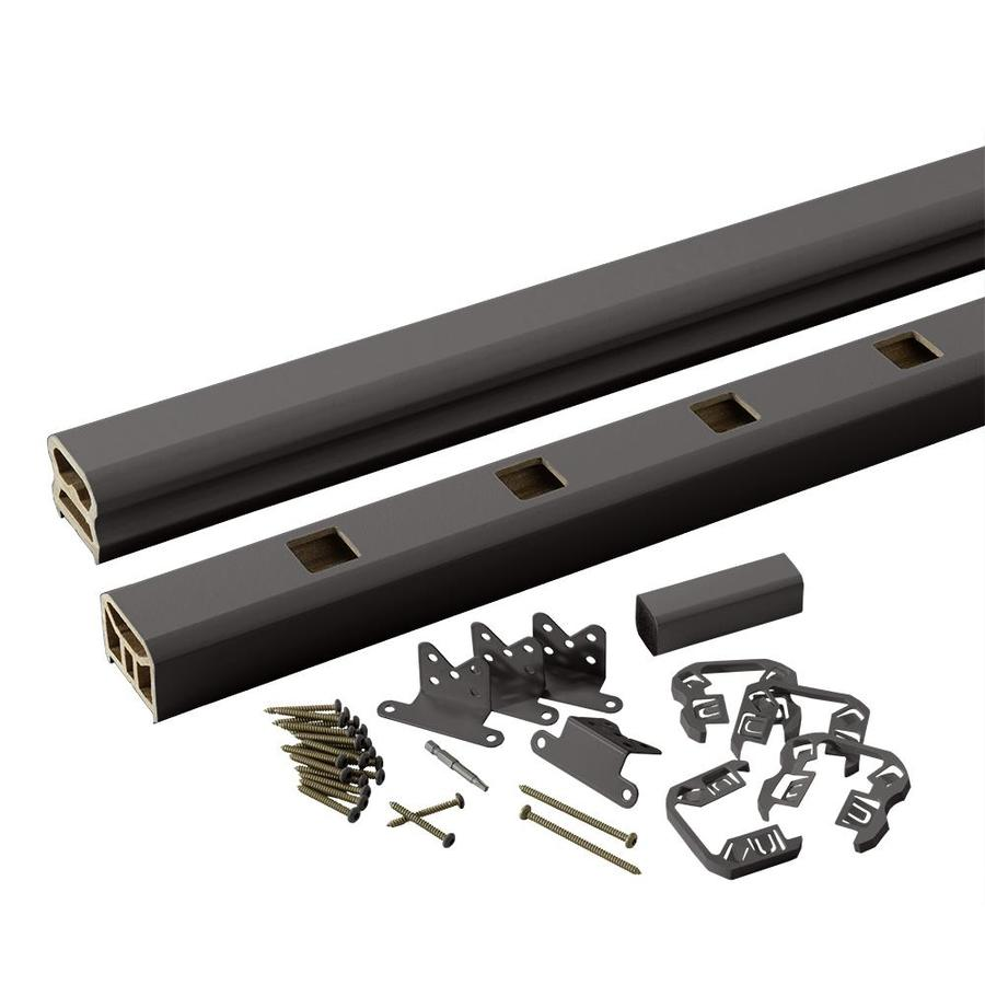 TimberTech (Assembled: 6-ft x 3-ft) RadianceRail Express Black Composite Deck Railing Kit