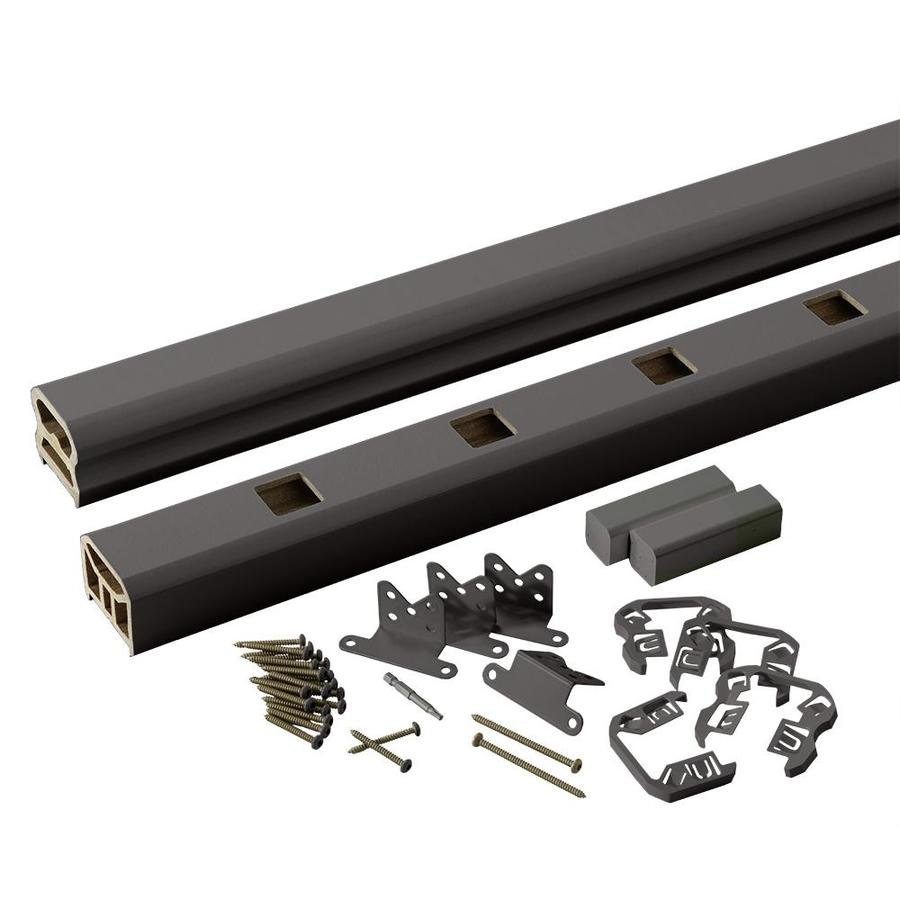 TimberTech (Assembled: 8-ft x 3-ft) RadianceRail Express Black Composite Deck Railing Kit