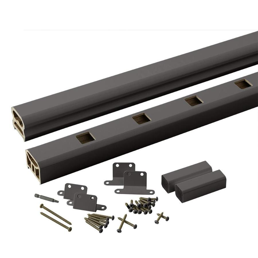 TimberTech Radiancerail Express Black Composite Deck Railing Kit (Assembled: 8-ft x 3-ft)