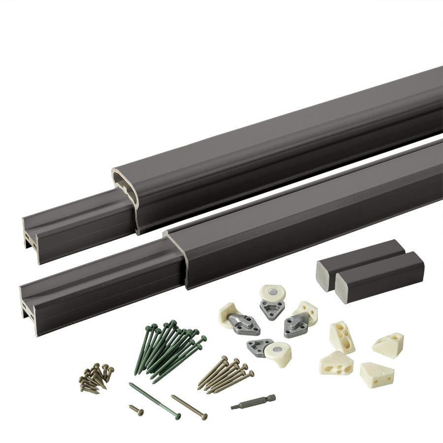 TimberTech (Assembled: 6-ft x 3-ft) RadianceRail Black Composite Deck Railing Kit
