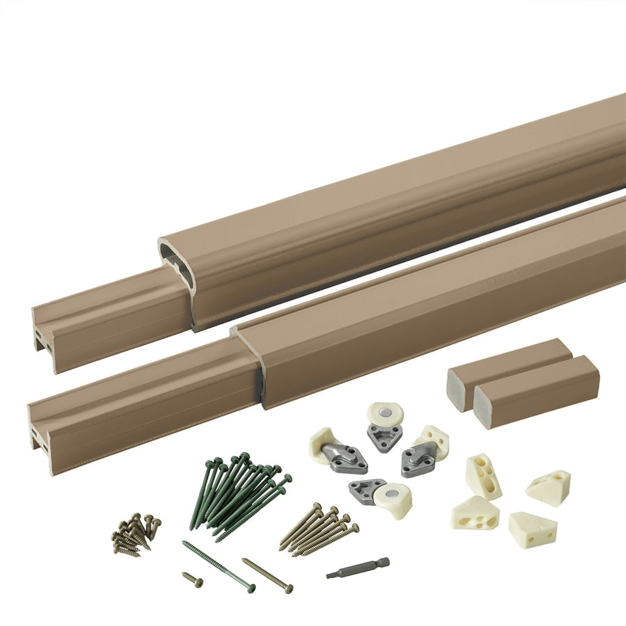 TimberTech (Assembled: 8-ft x 3-ft) RadianceRail Brownstone Composite Deck Railing Kit