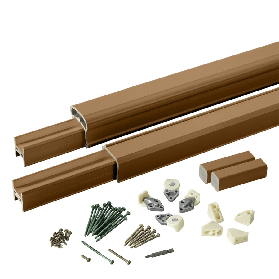 TimberTech (Assembled: 8-ft x 3-ft) RadianceRail Mountain Cedar Composite Deck Railing Kit