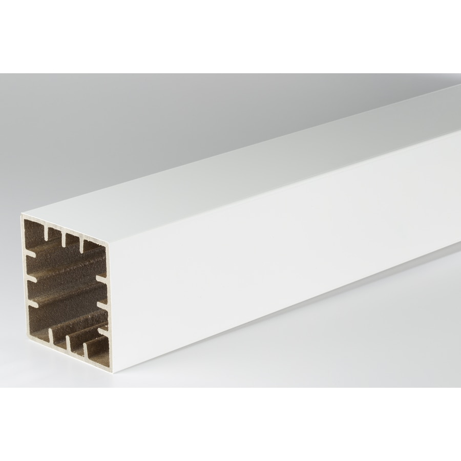 AZEK Premier and Trademark White Composite Deck Post Sleeve (Fits Common Post Measurement: 5-1/2-in x 5-1/2-in; Actual: 5.5-in x 5.5-in x 39-in)
