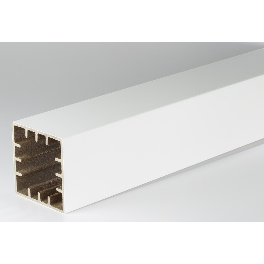 AZEK Premier and Trademark White Composite Deck Post Sleeve (Fits Common Post Measurement: 5-1/2-in x 5-1/2-in; Actual: 5.5-in x 5.5-in x 54-in)