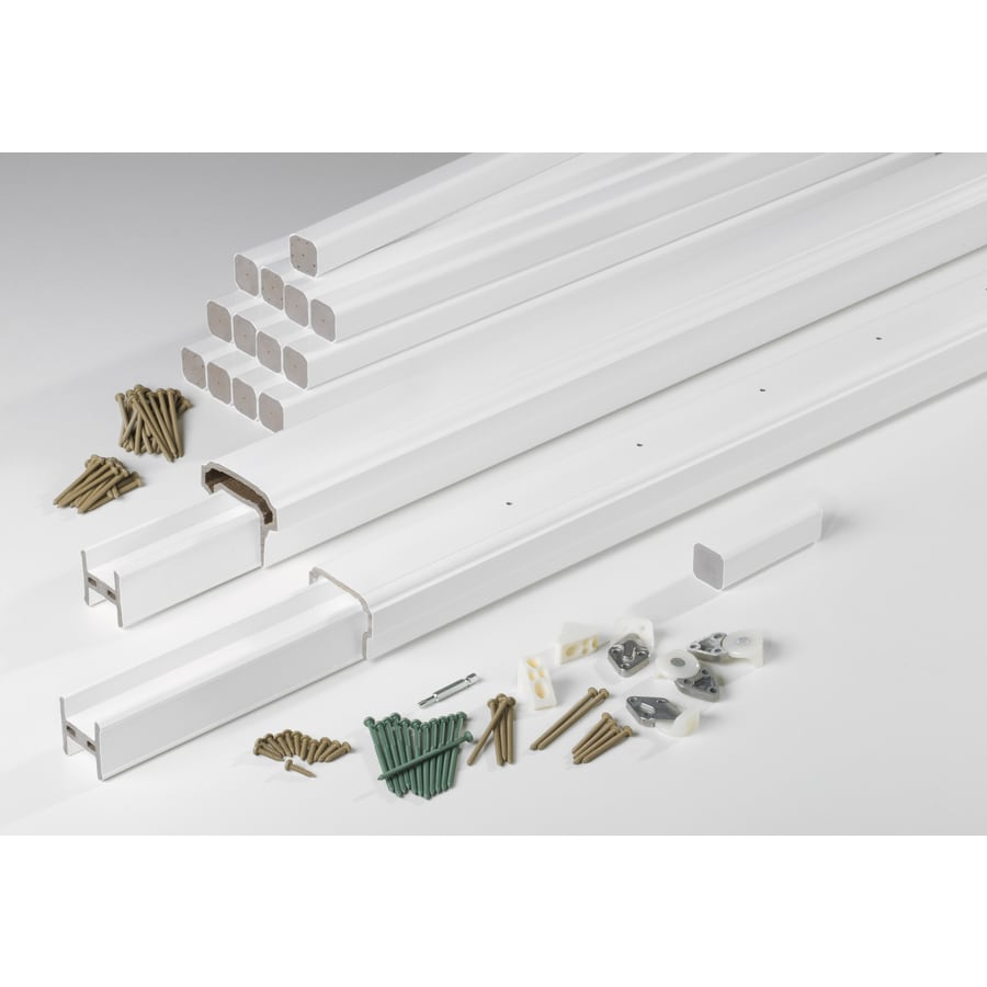 TimberTech Premier Rail White Composite Deck Railing Kit (Assembled: 8-ft x 3.5-ft)