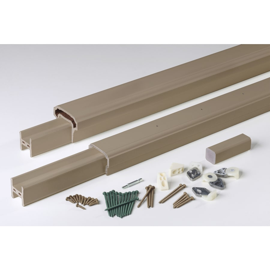 AZEK (Assembled: 8-ft x 3-ft) Premier Rail Brownstone Composite Deck Railing Kit