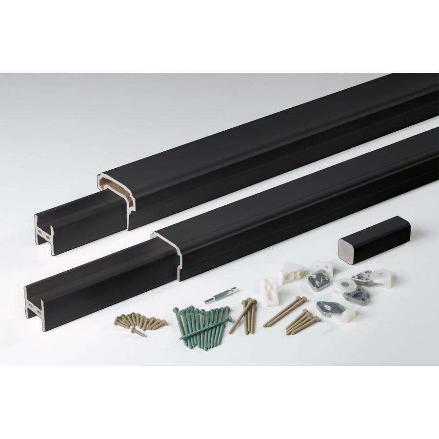 AZEK Premier Rail Black Composite Deck Railing Kit (Assembled: 6-ft x 3-ft)