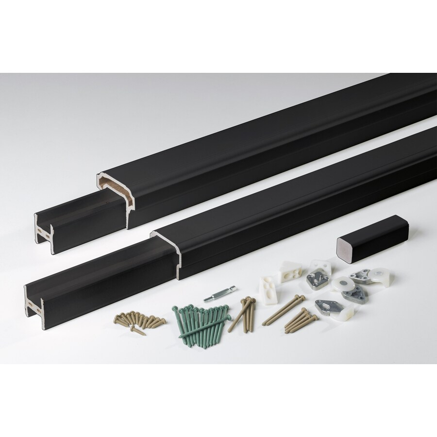 AZEK Premier Rail Black Composite Deck Railing Kit (Assembled: 10-ft x 3-ft)