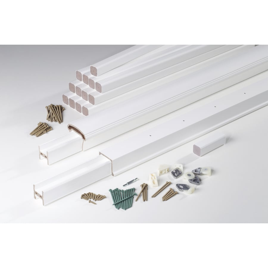 AZEK (Assembled: 10-ft x 3-ft) Trademark Rail White Composite Deck Railing Kit